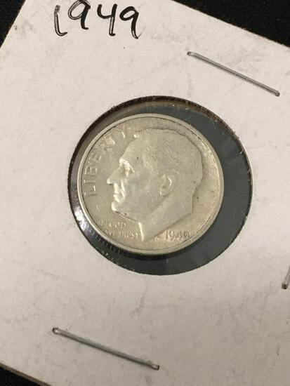 1949-S United States Roosevelt Dime - 90% Silver Coin