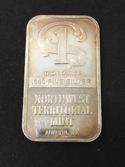 Northwest Territorial Mint 1 Troy Ounce .999 Fine Silver Bar - RARE NO LONGER IN PRODUCTION
