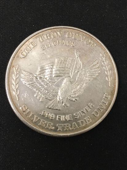 RARE US Assay Office San Fran 1 Troy Ounce .999 Fine Silver Bullion Round