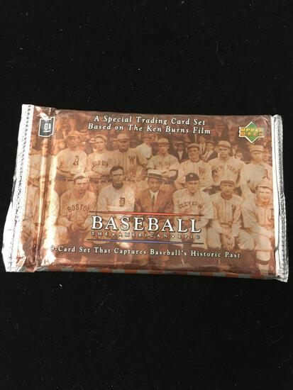 Sealed Pack of Baseball The American Epic Ken Burns Film Promo Cards Upper Deck