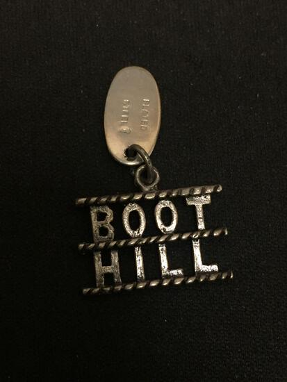 Boot Hill Dodge City Sterling Silver Charm Pendant