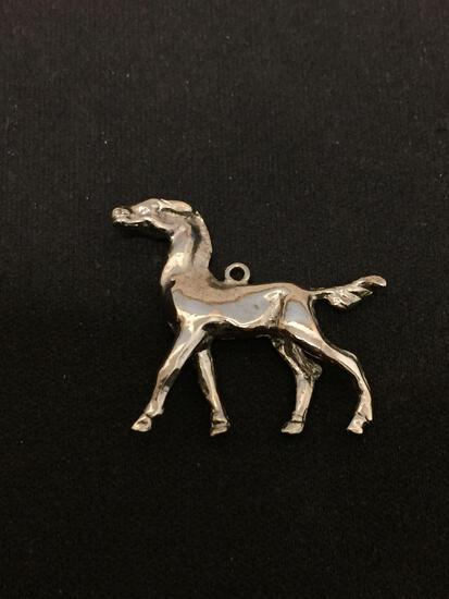 Horse Mustang Stallion Sterling Silver Charm Pendant