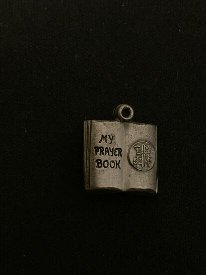 My Prayer Book Sterling Silver Charm Pendant
