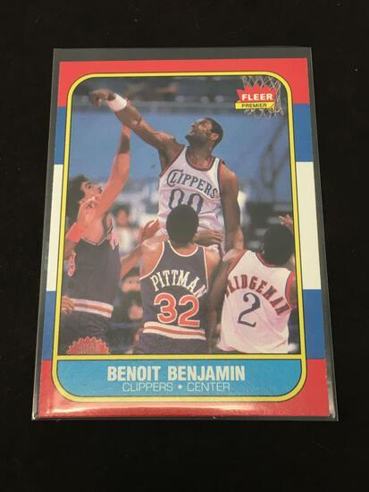 1986-87 Fleer #8 Benoit Benjamin Clippers Vintage Basketball Card