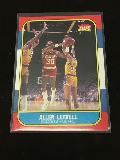 1986-87 Fleer #62 Allen Leavell Rockets Vintage Basketball Card