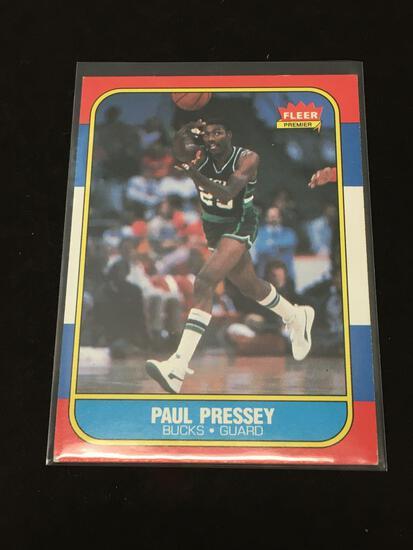 1986-87 Fleer #88 Paul Pressey Bucks Vintage Basketball Card