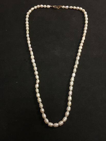 Estate Pearl Necklace - Costume