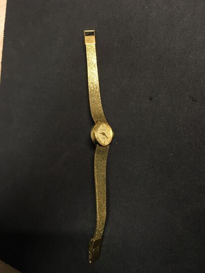 Wittnauer Designer Marquise 17x13mm Bezel Gold-Tone Stainless Steel Watch w/ Bracelet
