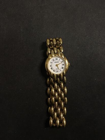 Gruen Designer Round 18mm Face Gold-Tone Stainless Steel Watch w/ Bracelet
