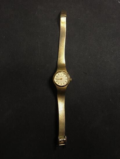 Waltham Designer Round 18mm Bezel Gold-Tone Stainless Steel Watch w/ Bracelet