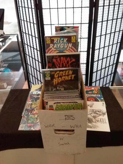 Long Box Full of Comic Books From Estate