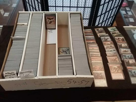 Partial 5 Row Box of Estate Magic The Gathering MTG Trading Cards