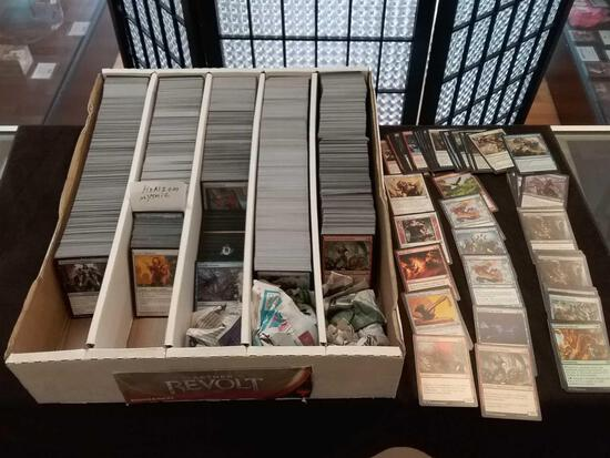 Partial Full Box of Magic The Gathering MTG Trading Cards