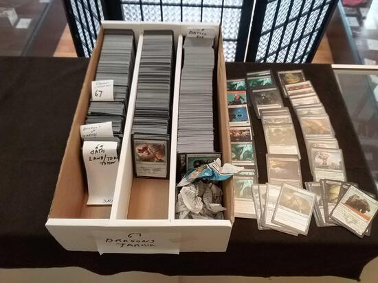 Estate 3 Row Box Full of Magic The Gathering MTG Trading Cards