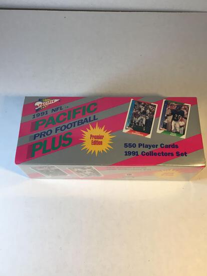 Factory Sealed 1991 Pacific Plus Pro Football Complete Set from Estate