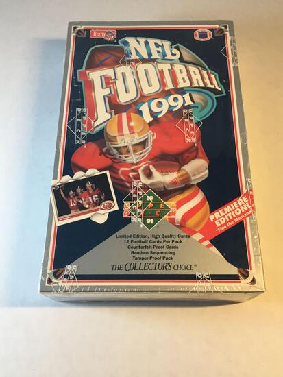 Factory Sealed 1991 Upper Deck Football Card Wax Box from Estate