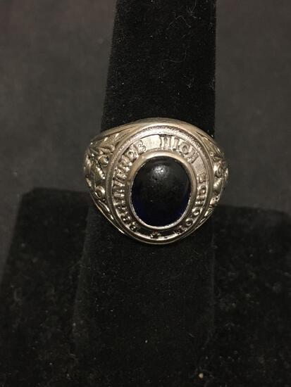 Braintree High School Vintage Gemstone Sterling Silver Class Ring Size 7