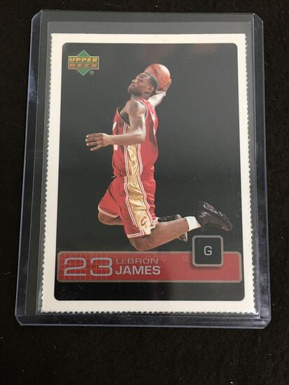2003-04 Upper Deck The Magazine LEBRON JAMES ROOKIE Basketball Card