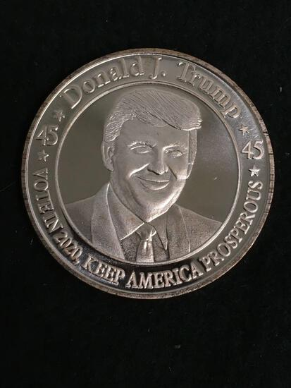 Donald J Trump 1 OZ .999 Fine Copper Bullion Round