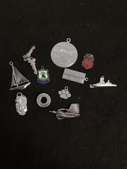 Over 20 Grams of Sterling Silver Charm Pendants