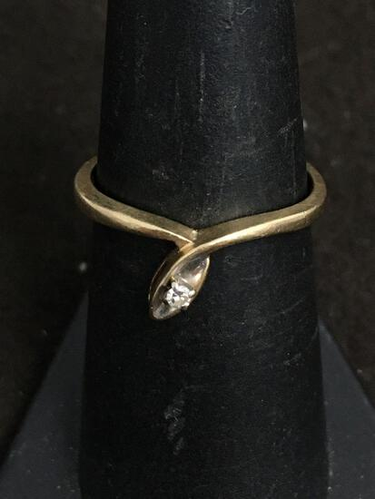 JTC 10K Yellow Gold & Diamond Ring Size 7 - 1.8 Grams
