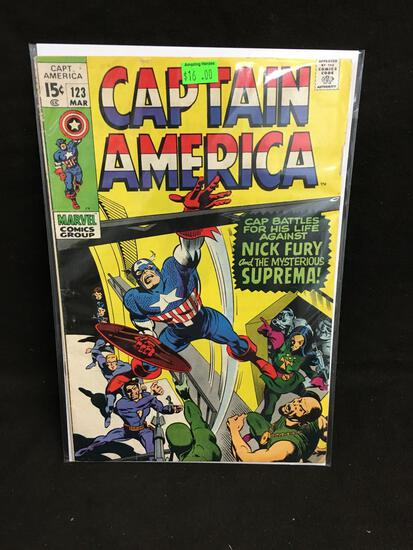 Captain America #123 Comic Book from Amazing Collection