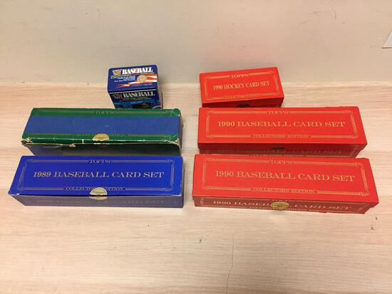 6 Count Lot of Sets and Partial Sets of Topps Tiffany & Fleer Glossy Baseball Cards - WOW - From