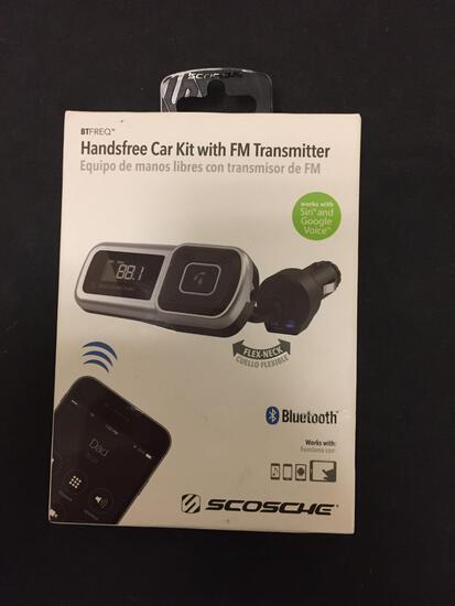 BRAND NEW Scosche Bluetooth Handsfree Car Kit with FM Transmitter in Original Box