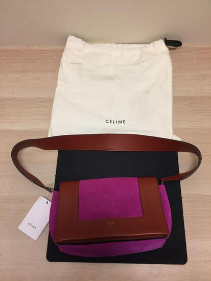 New with Original Tags and Liner Bag CELINE DION Pink and Leather Purse - RETAIL $1,529.99