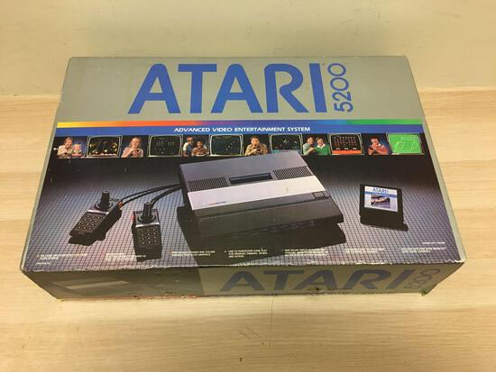 Vintage ATARI 5200 Video Game Console Bundle System in Original Box - WOW