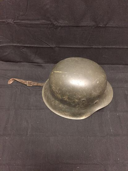 Authentic WWII Nazi Germany Army Helmet (No Swastikas) from Estate