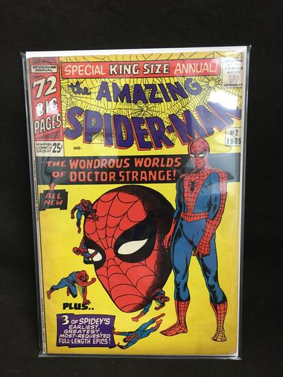 The Amazing Spider-Man #2 1965 King Size Annual Vintage Comic Book - ATTIC FIND!