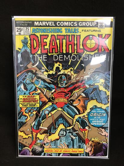 Astonishing Tales Featuring Deathlok #25 Vintage Comic Book - ATTIC FIND!