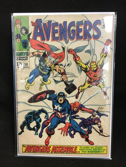 The Avengers #58 Vintage Comic Book - ATTIC FIND!
