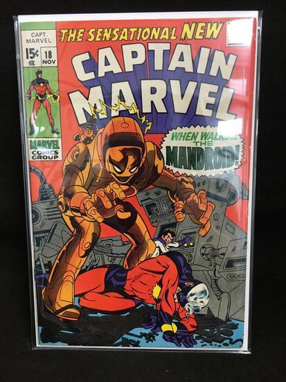 Captain Marvel #18 Vintage Comic Book - ATTIC FIND!