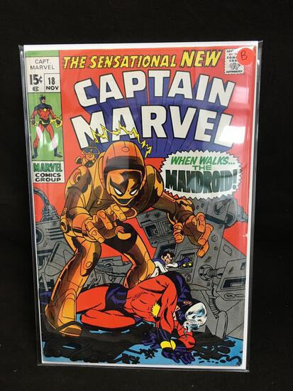 Captain Marvel #18 Vintage Comic Book - ATTIC FIND! B