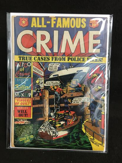 All-Famous Crime #10 Vintage Comic Book - ATTIC FIND!