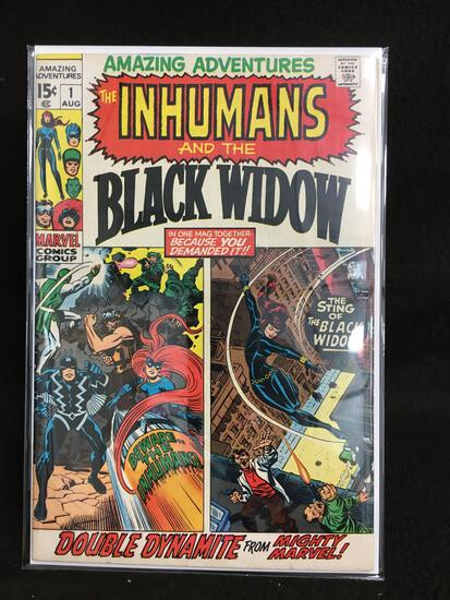 Amazing Adventures #1 The Imhumans and the Black Widow Vintage Comic Book - ATTIC FIND!