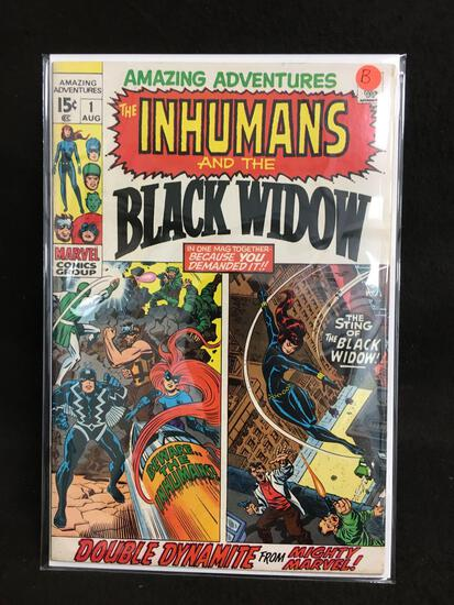 Amazing Adventures #1 The Imhumans and the Black Widow Vintage Comic Book - ATTIC FIND! B