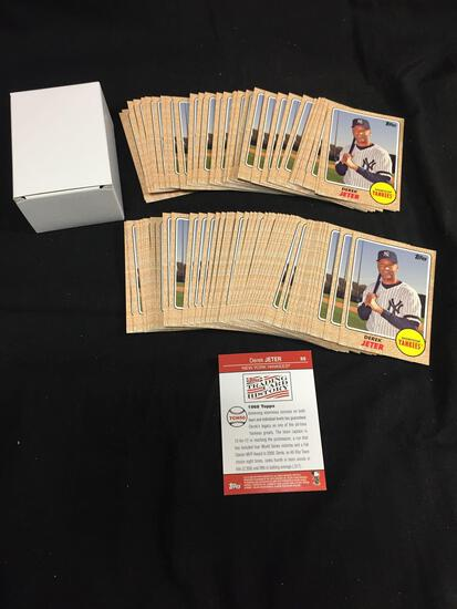 100 Card Lot of 2008 Topps Trading Card History Promo DEREK JETER Yankees Cards