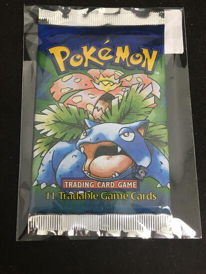 HIGH END Pokemon SHADOWLESS Base Set Sealed Long Crimp 11 Card Booster Pack - VENASAUR Art