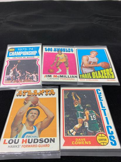 5 Card Lot of Mixed Sports Cards - Relics, Autographs, Inserts, Numbered, Stars & More!
