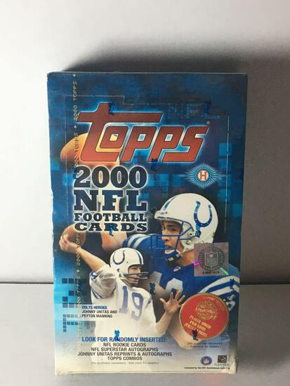 Factory Sealed 2000 Topps NFL Trading Card Hobby Box from Store Closeout