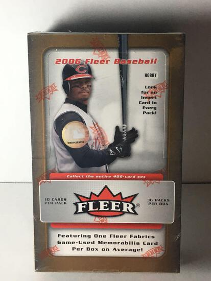 Factory Sealed 2006 Fleer Baseball Hobby Box from Store Closeout