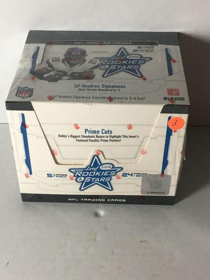 Factory Sealed 2008 Leaf Rookies & Stars Football Hobby Box from Store Closeout