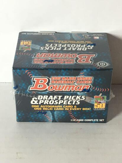 Factory Sealed 2001 Bowman Draft Picks & Prospects Complete Set from Store Closeout