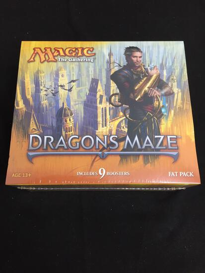 FACTORY SEALED MTG Magic The Gathering 9 Booster Box FAT PACK - Dragon's Maze