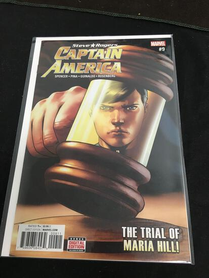 Steve Rogers Captain America #9 Comic Book from Amazing Collection