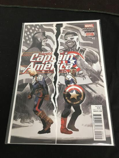 Sam Wilson Captain America #2 Comic Book from Amazing Collection