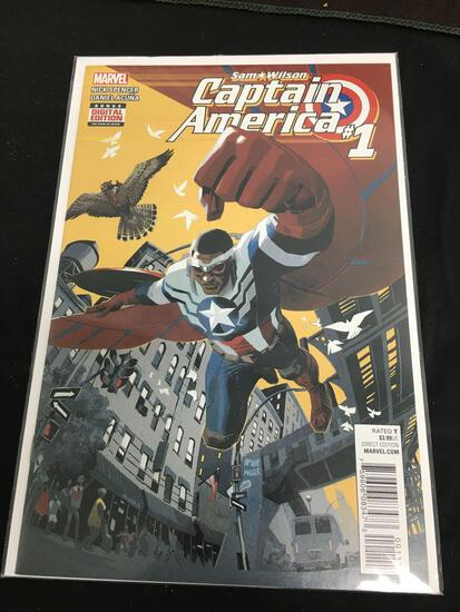 Steve Rogers Captain America #1 Comic Book from Amazing Collection